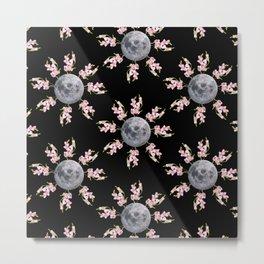 Floral moon Metal Print