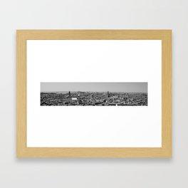 B&W Venice. Framed Art Print