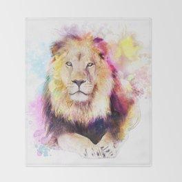 Sunny lion Throw Blanket