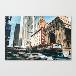 chicago strret Canvas Print