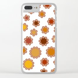 Floral Dots Clear iPhone Case