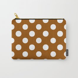 Polka Dots (White/Brown) Carry-All Pouch