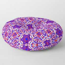 Red, White and Blue Diamonds 242 Floor Pillow