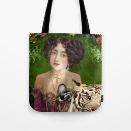 The Madame Blanchefleur Apolline brings a White Tiger to the Feast of the Epiphany Tote Bag