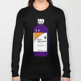 Codeine Bottle Cartoon Long Sleeve T-shirt