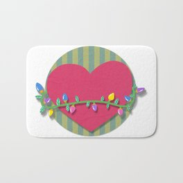 Christmas heart Bath Mat
