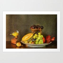 Fruit and Cricket Art Print