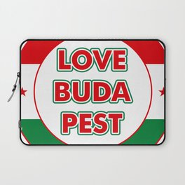 Love Budapest, circle, color Laptop Sleeve