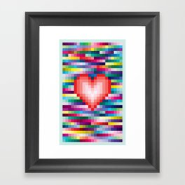 Mega ☐ Love Framed Art Print