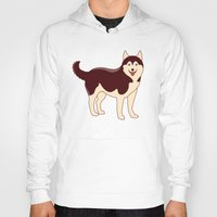 husky Hoodies featuring Husky Dog by TinyBee