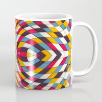 stained glass Mugs featuring Stained Glass by Danny Ivan