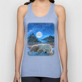 Just Chilling and Dreaming (Polar Bear) Unisex Tank Top