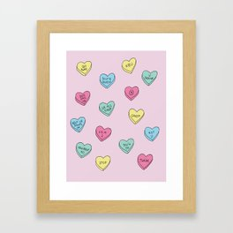 Anti Candy Hearts Framed Art Print