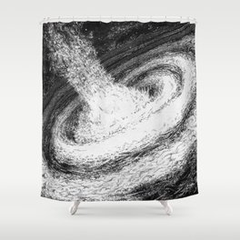Galaxy Particles Infinite Shower Curtain