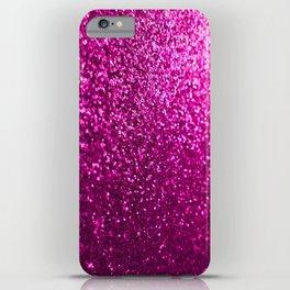 Pink Sparkle Glitter iPhone Case