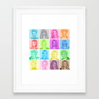 glee Framed Art Prints featuring Glee by ONEX8