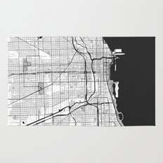 Chicago Map Gray Rug
