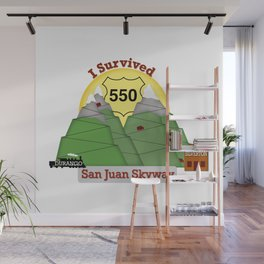 I Survived HWY 550 Durango to Silverton Wall Mural