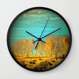 Ohrid Lake blue Wall Clock