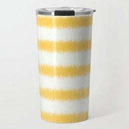 Ikat Stripe Yellow Travel Mug