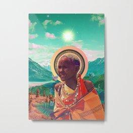 Solar Kenya Collage Metal Print