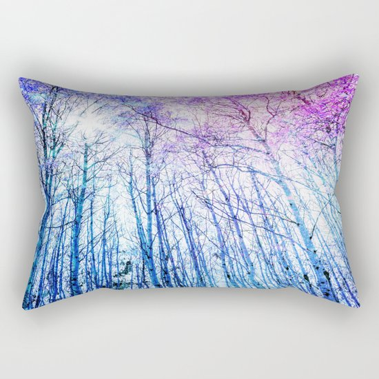 Blue Forest Purple Leaves Rectangular Pillow