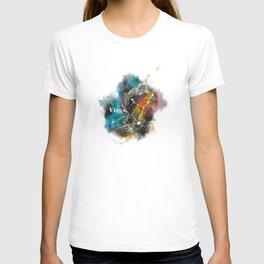 Galaxy VIRGO Star Sign Astrology Watercolour Rainbow Art Print Art Print T-shirt