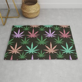 Marijuana Muted Colors Rug