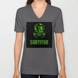 Survival Mask Survivor Unisex V-Neck