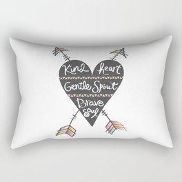 Kind Gentle Brave 1 Rectangular Pillow