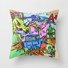 A+ Tension (Attention) Throw Pillow