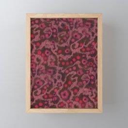 Pink Flowers, Blush Curves, fiber art Framed Mini Art Print