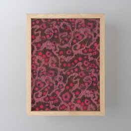 Pink Flowers, Blush Curves, fiber art Framed Mini Art Print