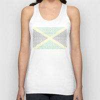 jamaica Tank Tops featuring digital Flag (Jamaica) by seb mcnulty