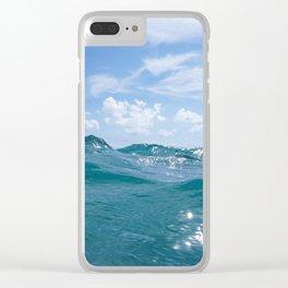 Ocean Blues in Palm Beach Clear iPhone Case