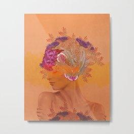 Woman in flowers III Metal Print