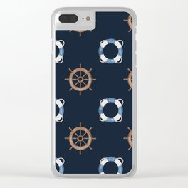 Classic Nautical Clear iPhone Case