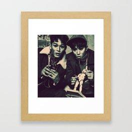 Demon Chen & Suho Framed Art Print