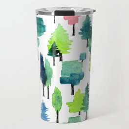 Watercolor forest Travel Mug