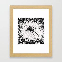 Briar Web- Black and White Framed Art Print