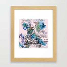 L'Oiseau Chanteur Framed Art Print