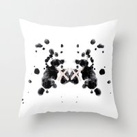 the xx Throw Pillows featuring XX by Andrea Eedes