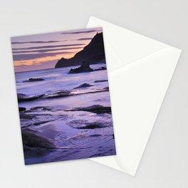 Vela blanca tower. Purple beach Stationery Cards