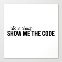 Show me the code Canvas Print
