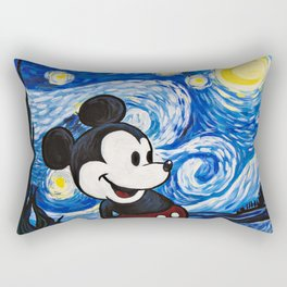 Starry Night Mickey Rectangular Pillow