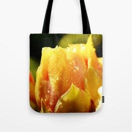 Raindrop Cactus Flower Tote Bag