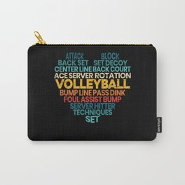 Volleyball Word Cloud Sport Gameday Spike Net Carry-All Pouch