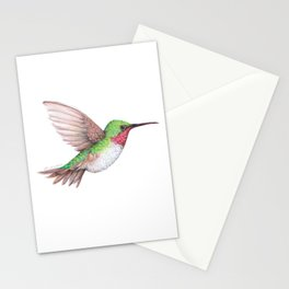 Ruby Throated Hummingbird Stationery Cards