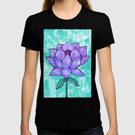 Sacred Lotus – Lavender Blossom on Mint Palette T-shirt