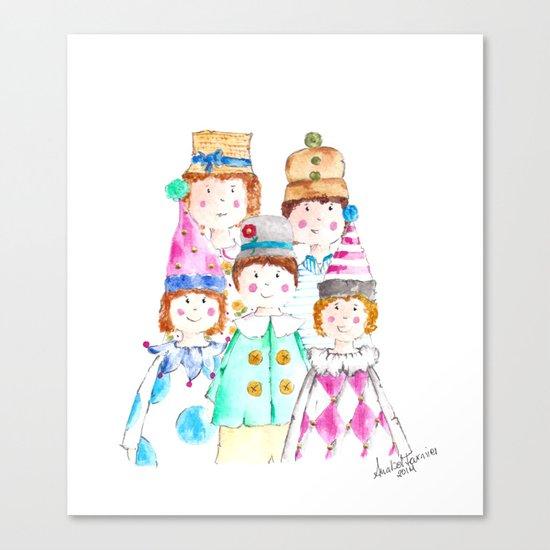 Circus Friends Canvas Print